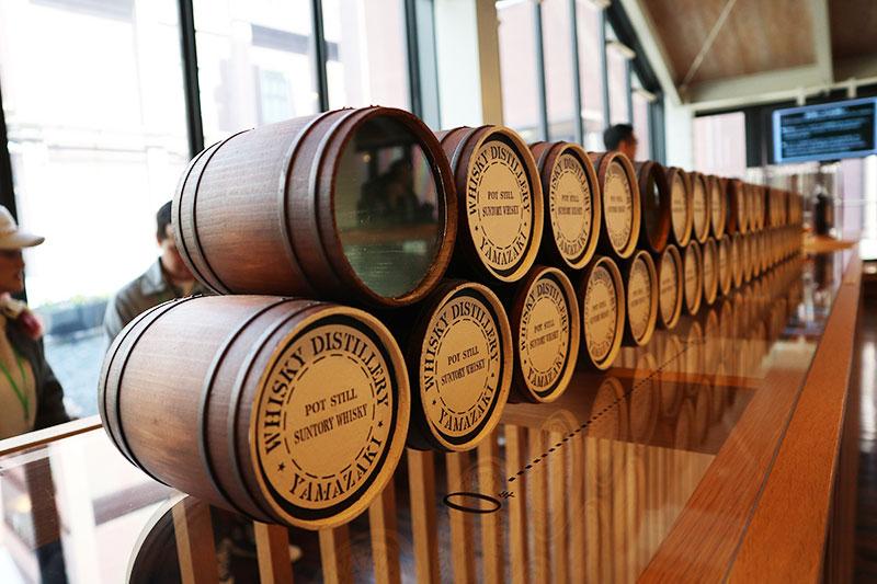 サントリー山崎蒸留所 樽の模型