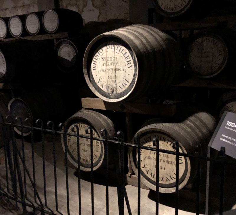 サントリー山崎蒸留所の中で一番古い樽